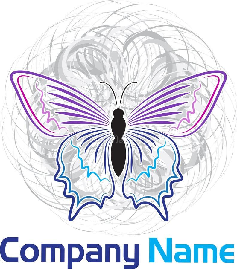 Motyli logo ilustracji