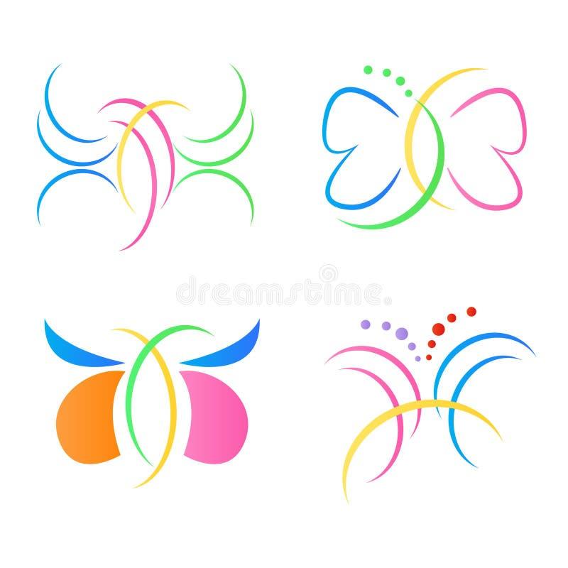 Motyli logowie zdjęcia royalty free
