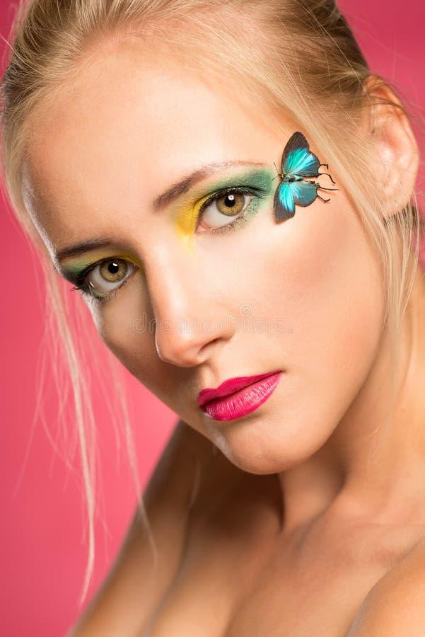 Motyli makijaż fotografia stock