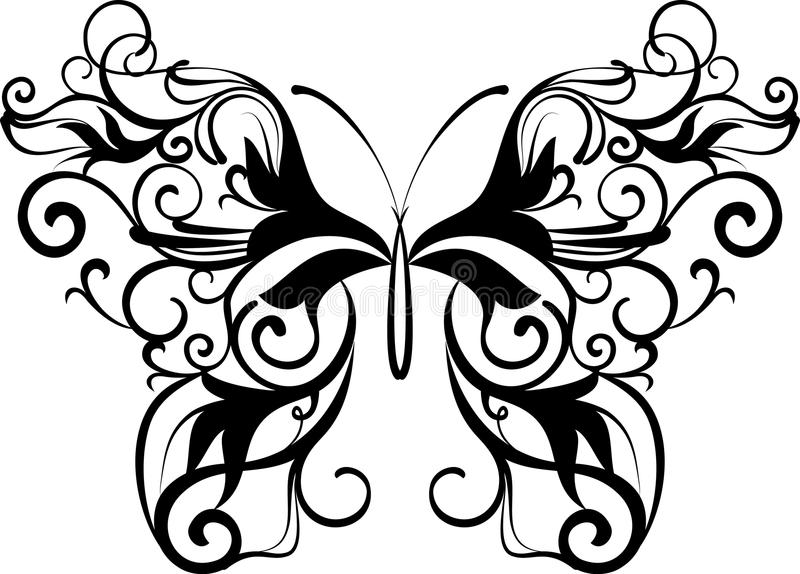 motyli ornamental ilustracja wektor