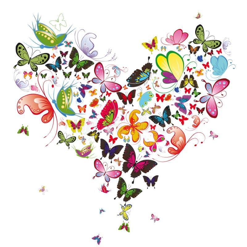 motyli serce ilustracji