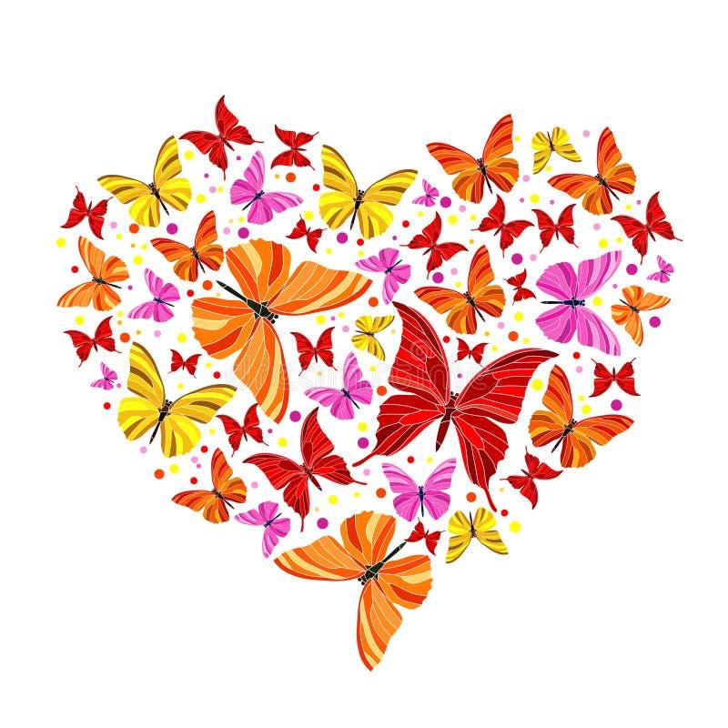 motyli serce royalty ilustracja