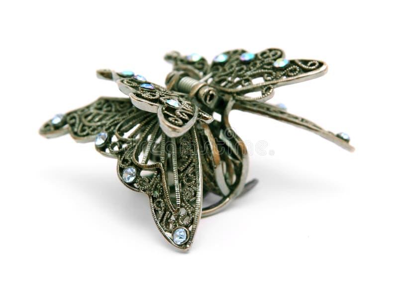 motyli włosianej szpilki kształt zdjęcie stock