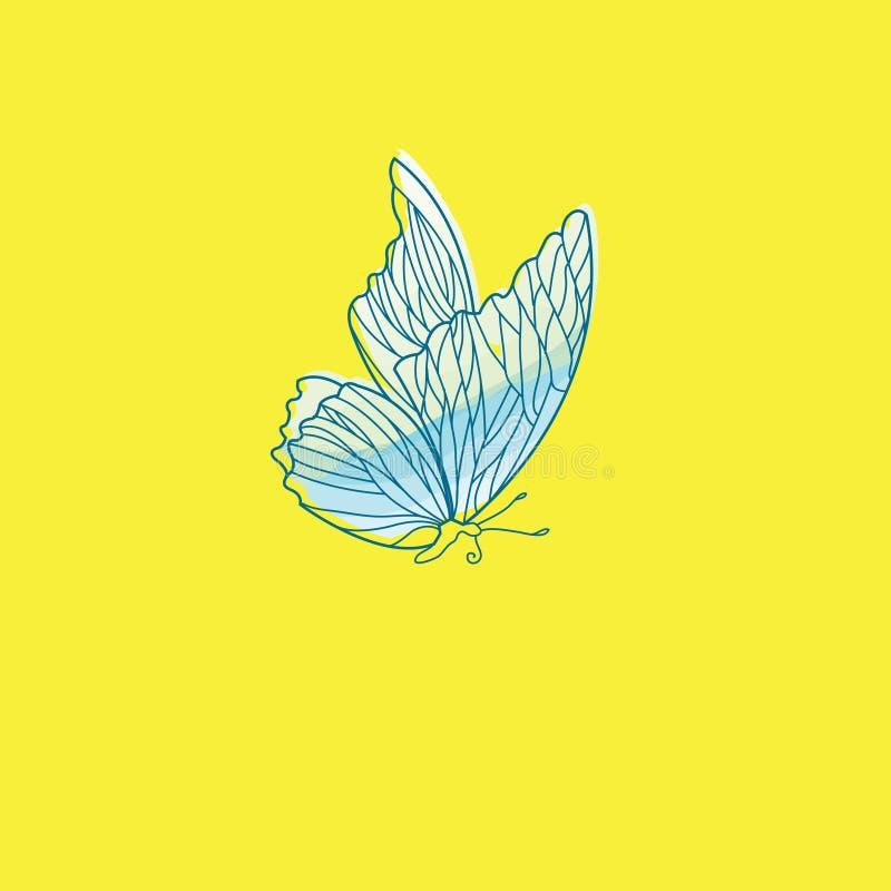 Motyli wektorowy logo Motylia ikona (0) 8 motyli eps ilustracyjnych vailable wersj royalty ilustracja