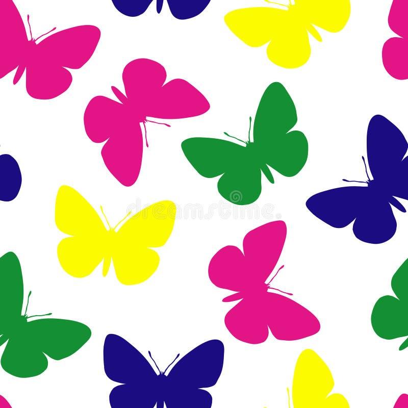 motyli wzór bezszwowy ilustracji