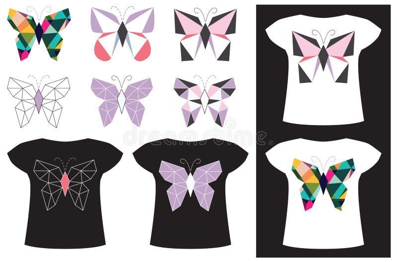 Motyli zastosowanie na koszulce ilustracji