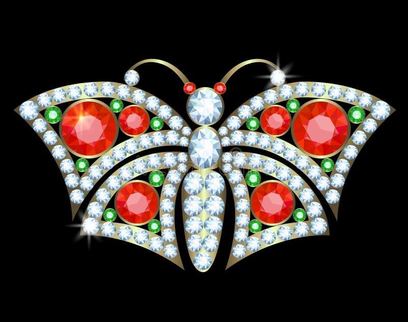 Motylia broszka ilustracji