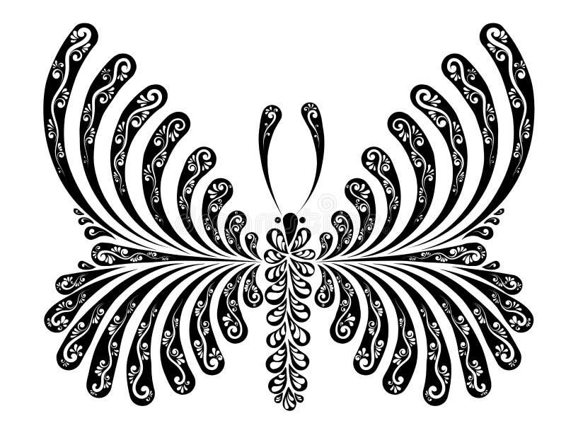Motylia dekoracyjna wektorowa ilustracja ilustracja wektor