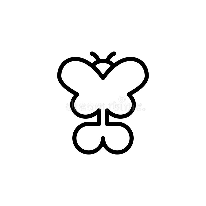Motylia ikona Element minimalistic ikony dla mobilnych pojęcia i sieci apps Cienka kreskowa ikona dla strona internetowa rozwoju  ilustracji