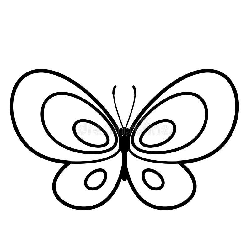 Motylia ikona Kreskowa sztuka Biały tło Ogólnospołeczna medialna ikona pojęcia prowadzenia domu posiadanie klucza złoty sięgający royalty ilustracja
