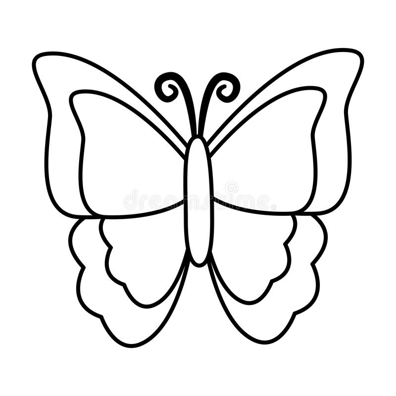 Motylia insekt ikona royalty ilustracja