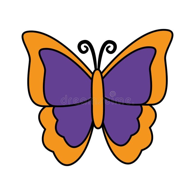 Motylia insekt ikona ilustracji