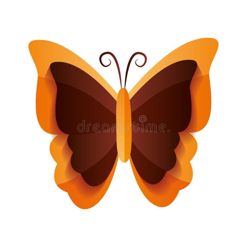 Motylia insekt ikona ilustracja wektor