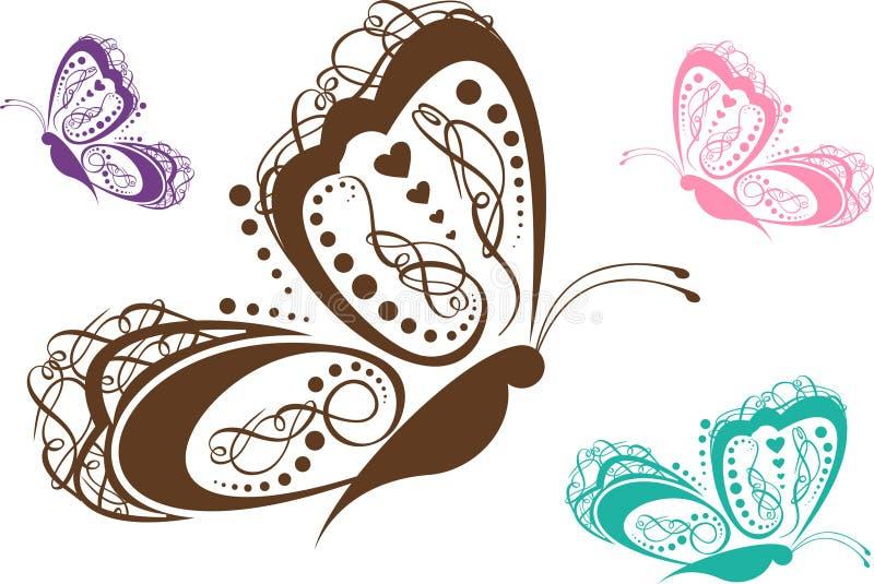 motylia kolorowa ślimacznica ilustracji