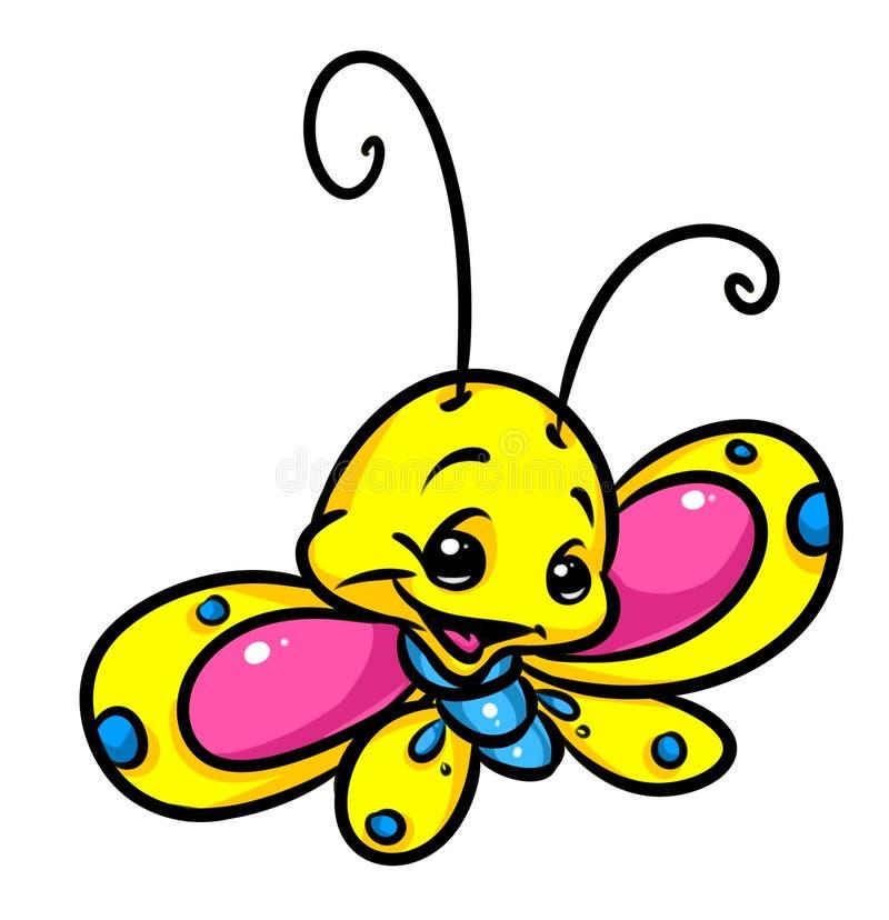 Motylia kreskówki ilustracja royalty ilustracja