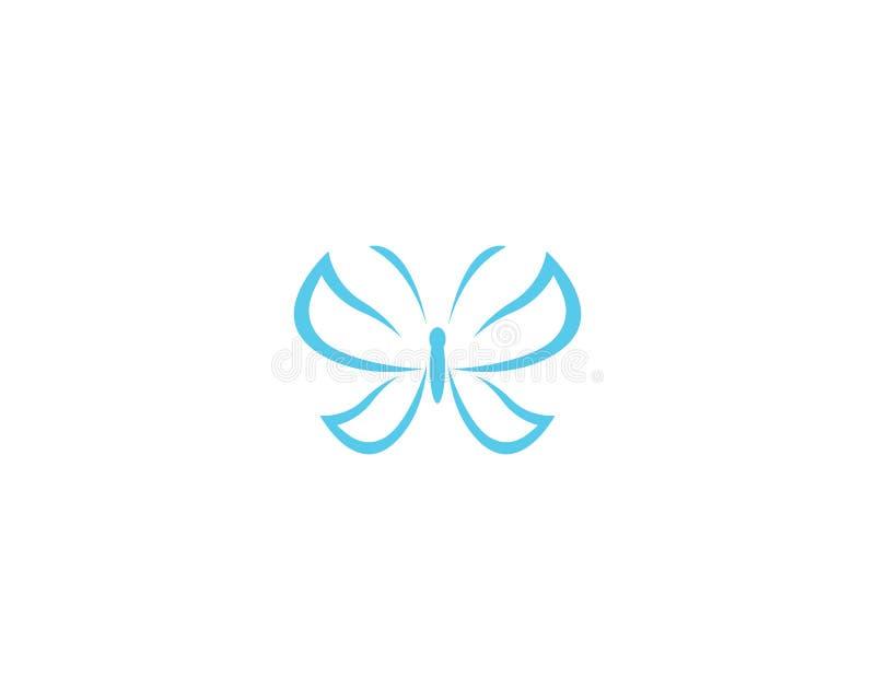 Motylia loga szablonu wektoru ikona ilustracji