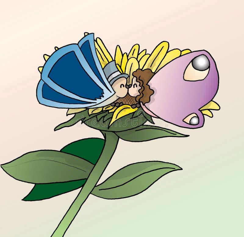 motylia miłość ilustracji