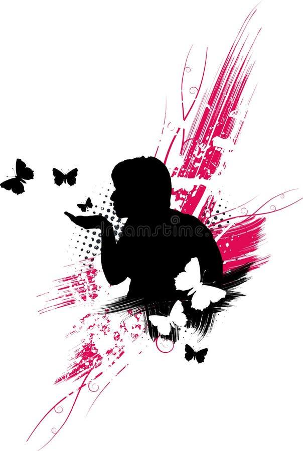 motylia miłości royalty ilustracja