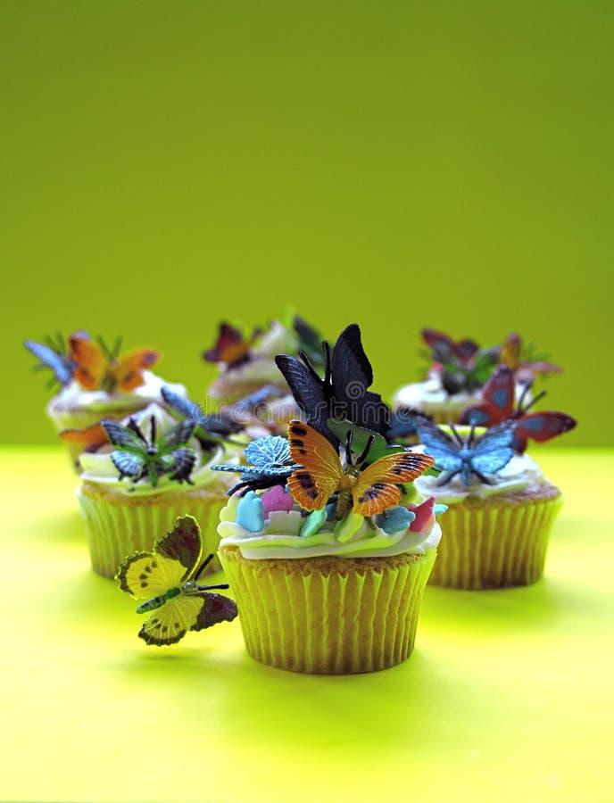 motylie babeczki obraz stock
