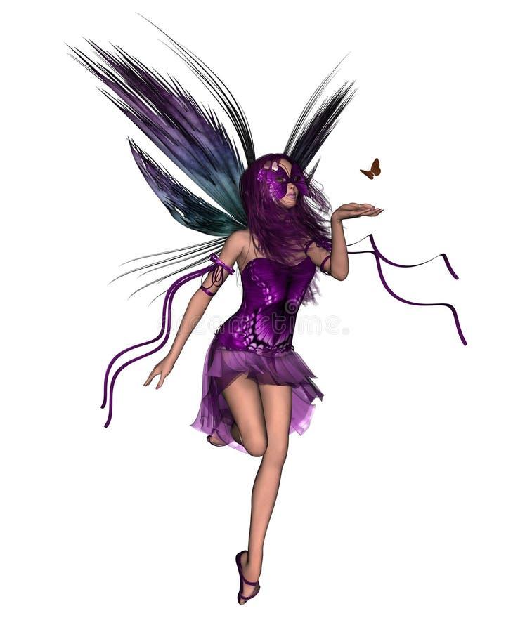 motylie czarodziejskie purpurowy ilustracja wektor