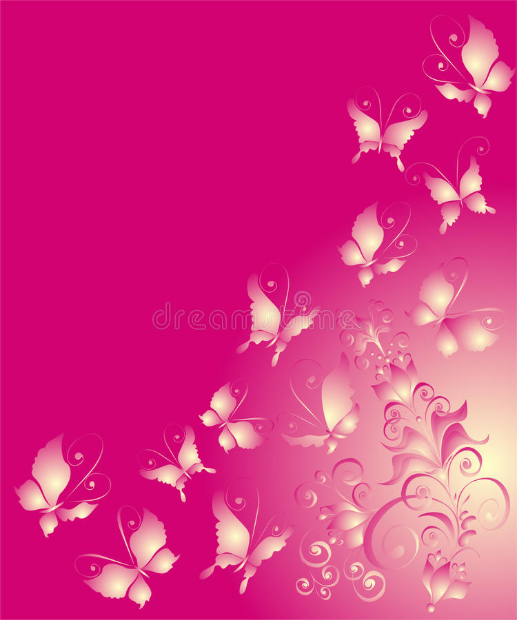 motyliego florel ilustracyjny ornamentu wektor ilustracji