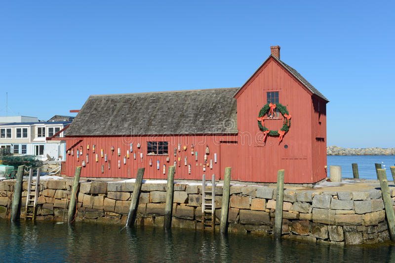 Motyw liczba 1, Rockport, Massachusetts obrazy stock