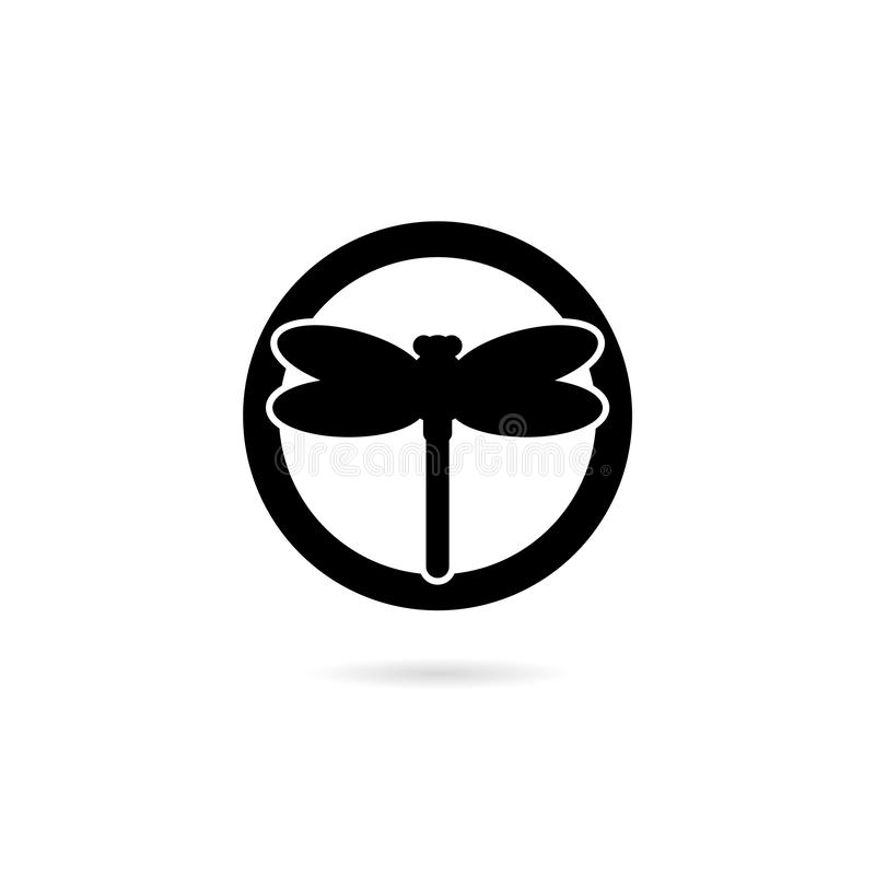 Motyw Smok Insect mucha na ilustracji projektu logo ilustracja wektor