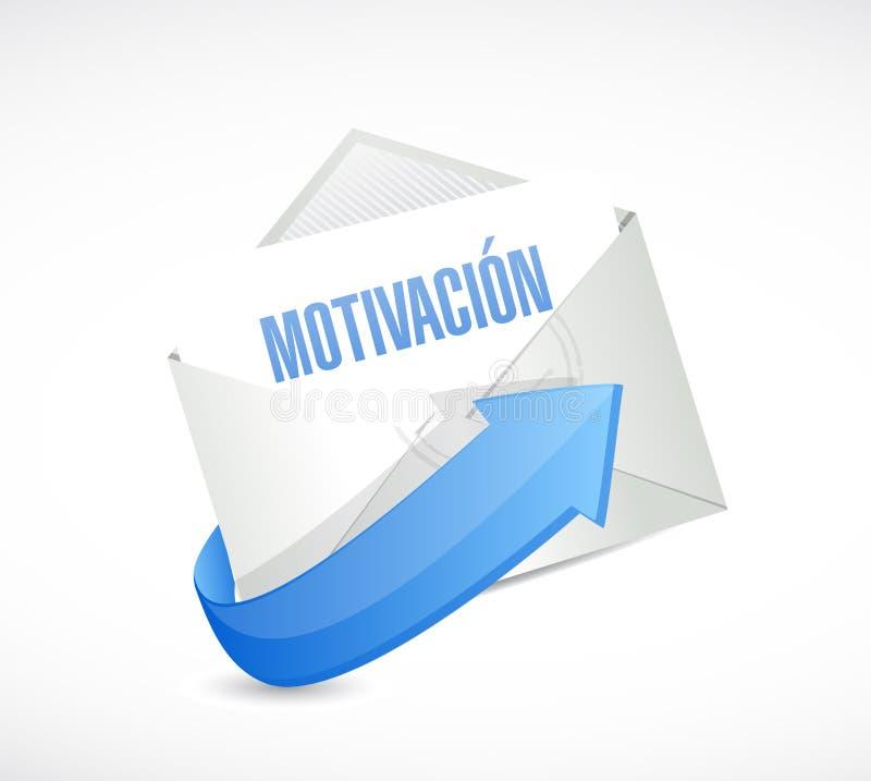 Motywaci poczta podpisuje wewnątrz Hiszpańskiego pojęcie ilustracja wektor