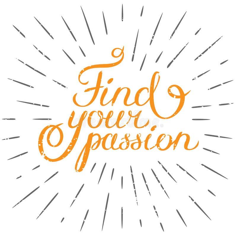 Motywaci wycena Znajduje twój pasję Ręka rysujący projekta element fo ilustracji