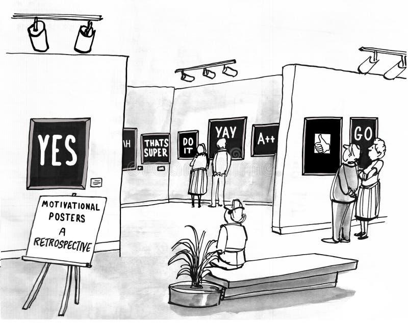 Motywacyjni plakaty ilustracji