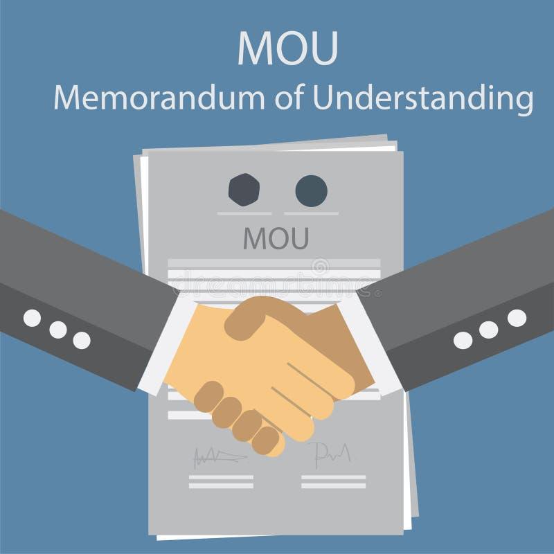 MOU memorandum of understanding. Vector ESP 10 vector illustration