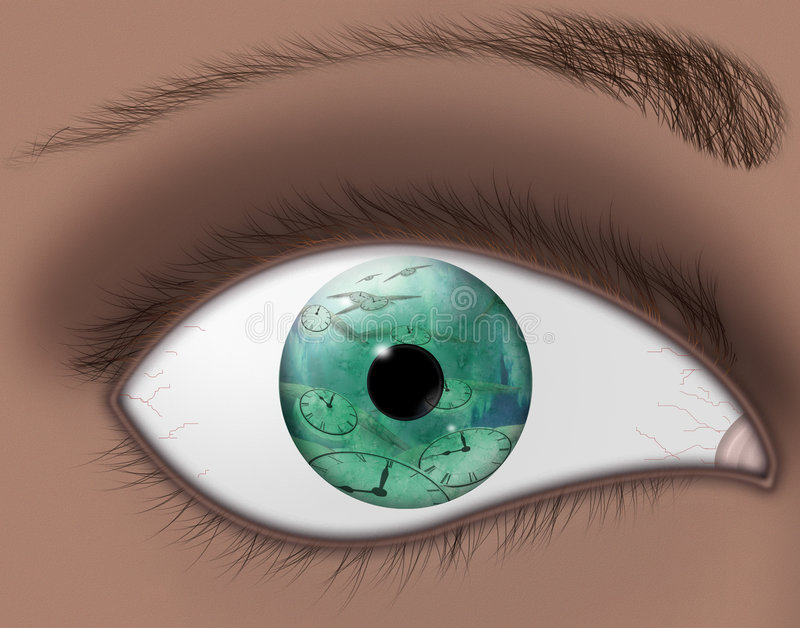 Download Mouche De Observation De Temps Illustration Stock - Illustration du eyeball, regard: 728816
