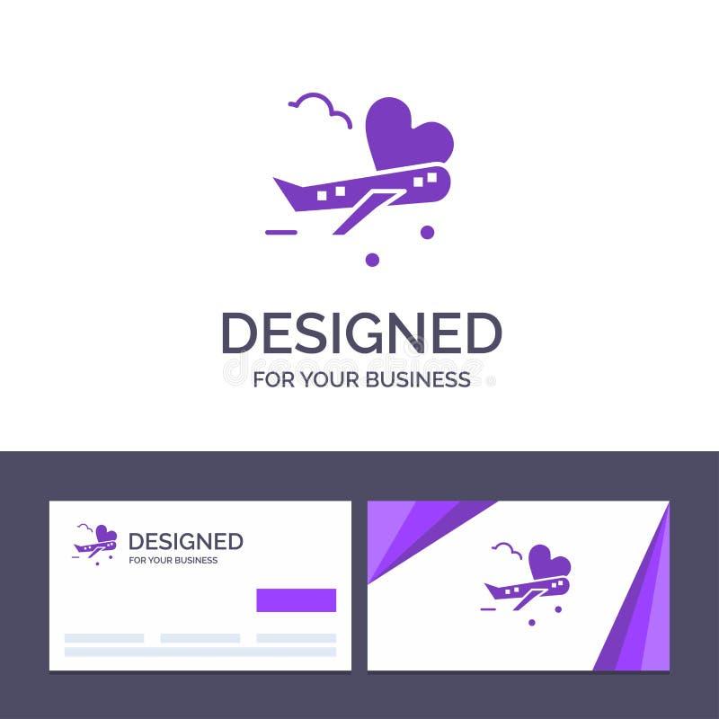Mouche de visite de calibre créatif de carte de visite professionnelle et de logo, avion, avion, illustration de vecteur d'aéropo illustration de vecteur