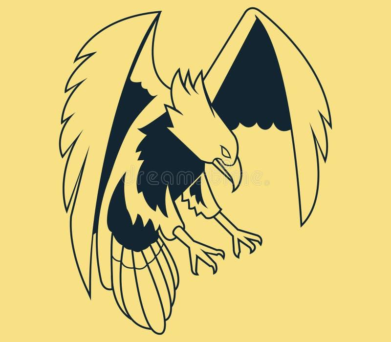 Mouche Eagle Line Art illustration libre de droits