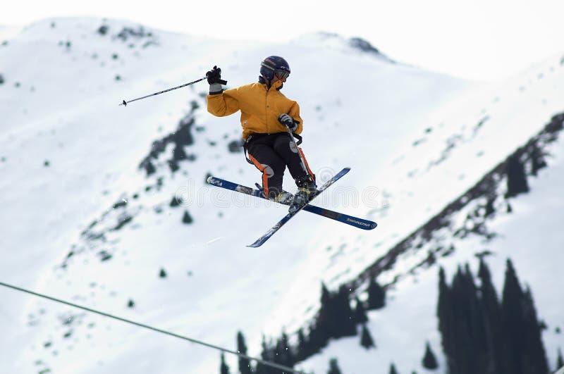Mouche extrême de skieur photos libres de droits