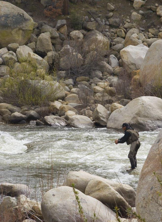 Mouche fshing Kern photographie stock libre de droits