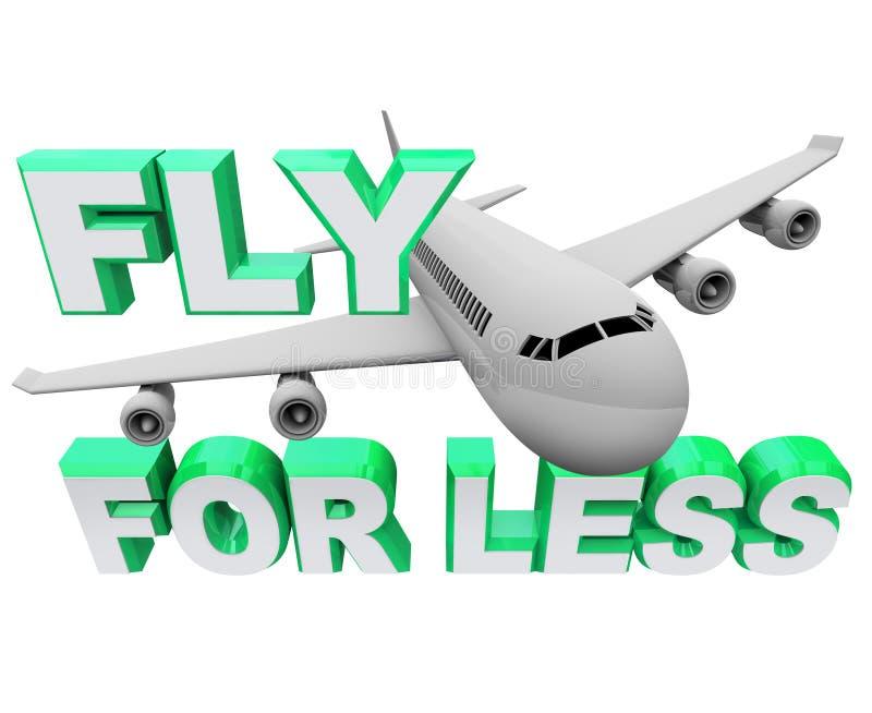Mouche pour moins - sauf en réservant la course à trajectoire aérienne illustration stock