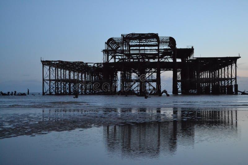 Mouettes de pilier de Brighton image stock