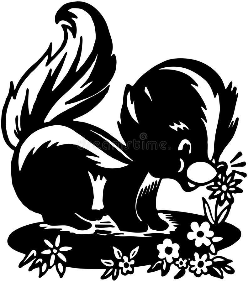 Mouffette mignonne illustration stock