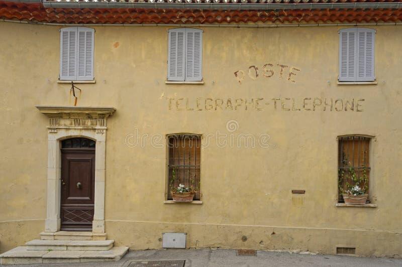 Vecchio ufficio postale Mougins fotografia stock