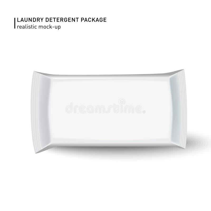 Mouillez le paquet de chiffons d'isolement sur le fond blanc Peut être l'utilisation pour votre conception, promo, adv et etc. Il illustration de vecteur