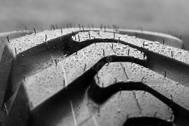 Mouillez le pneu photographie stock libre de droits