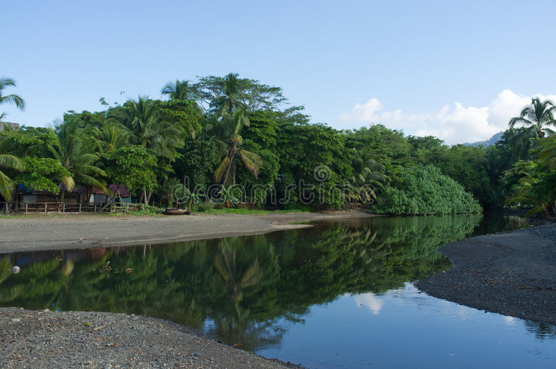 Mouith of a tropical river royalty free stock photography