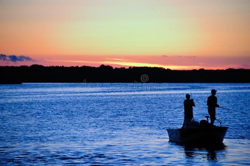 Moulage au coucher du soleil dans le Wisconsin image stock