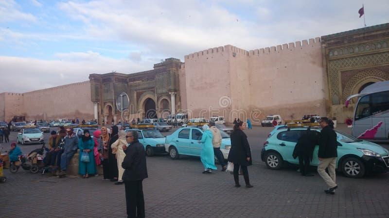 Moulay伊斯梅尔王朝的Bab Al曼索历史站点  库存图片