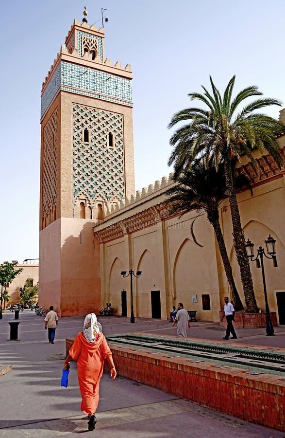 Moulay El Yazid清真寺 在马拉喀什 免版税库存图片