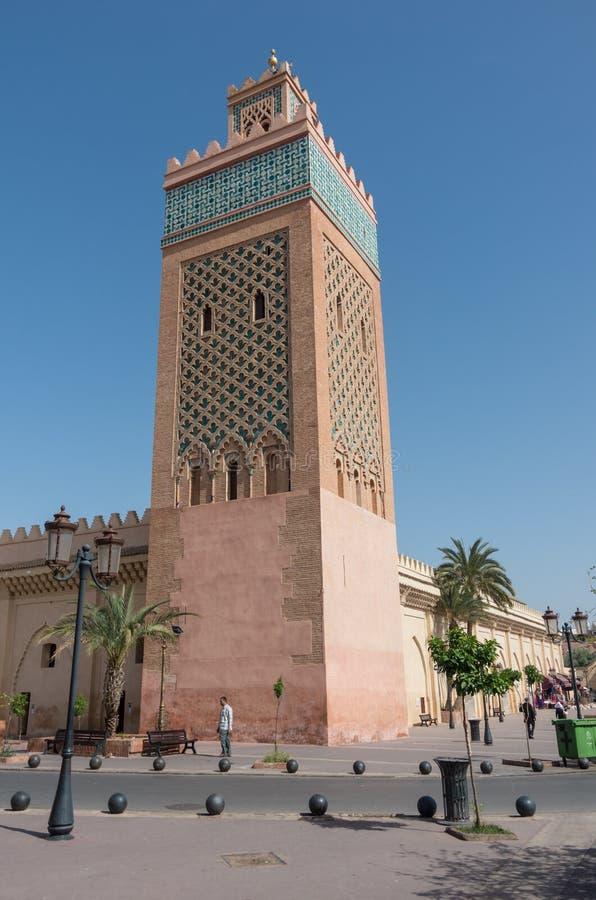 Moulay El Yazid Mosque a Marrakesh, Marocco fotografia stock libera da diritti