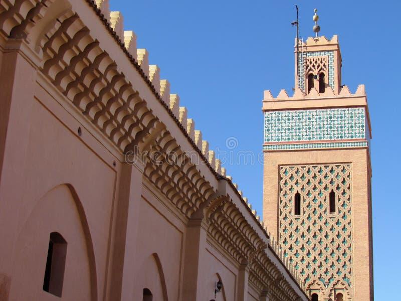 Moulay El Yazid Mosque nel vecchio Medina di Marrakesh fotografia stock