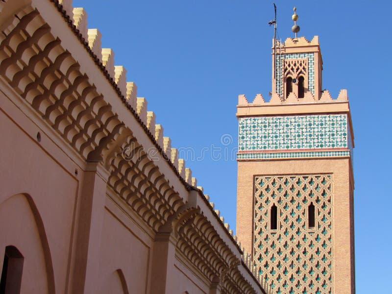 Moulay El Yazid Mosque in oude Medina van Marrakech stock foto