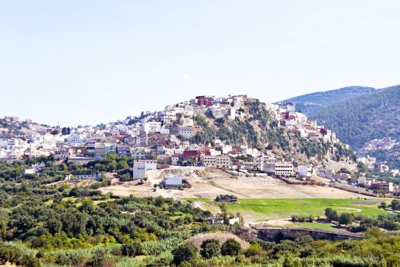 Moulay Idriss es la ciudad más santa de Marruecos Estaba aquí eso imagen de archivo libre de regalías